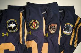 military patches worn by navy football