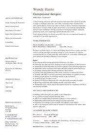 Occupational Therapy Resume Template Occupational therapist Resume Tomyumtumweb 72