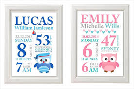 on personalized baby announcement wall art with birth announcement wall art