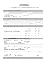 Apartment Rental Application Apartment Application Form Resume Name 5