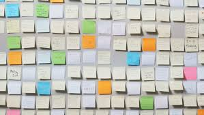 Image result for wall of post-its