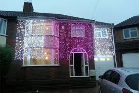 outdoor house lights white pink