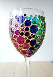 hand painted wine glass image 0 diy glasses canada uk