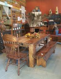 6 rustic dining room table reclaimed barn board finish