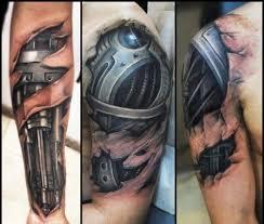 Je To člověk Nebo Stroj Děsivá Realistické Tetování Bleskcz