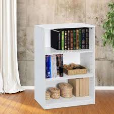 Office bookcases with doors White Jaya 3shelf White Open Bookcase Home Depot Bookcases Home Office Furniture The Home Depot