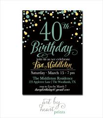 Birthday Invitation Templates Free Download 26 40th Birthday Invitation Templates Psd Ai Free Premium