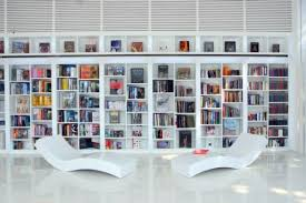 View in gallery Sleek and contemporary home library design