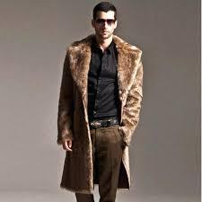 male fur coat winter long design friendly faux mink for men fox overcoat s plus size male fur coat faux