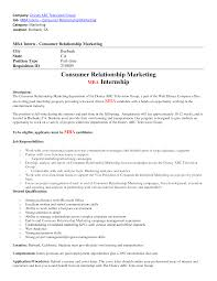 ... cover letter Marketing Intern Resume Examples Eager World Professional  Resumes Consumer Relationship Marketing Samplemarketing internship resume