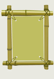 set of diffe of bamboo frame design vector 04