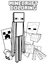 Minecraft Spider Coloring Pages Printable Spider Coloring Pages