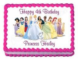 Amazoncom Disney Princess Party Decoration Edible Birthday Cake