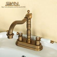 4 inch center bathroom faucet. free shipping 4 inch centerset bathroom faucet cold hot water tap lavatory vessel sink basin faucets mixer taps swivel spout center i