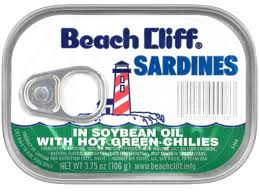 sardines in soybean oil with hot green chilies canned