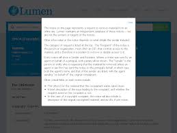 DMCA Copyright Complaint to Google Notices Lumen
