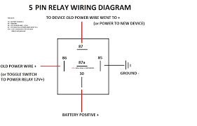 4 Pin Relay Wiring Diagram Lights Mini Relay Wiring Diagram Wiring Diagram Options