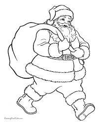 Santa Coloring Sheets Free With Bedandbreakfastitaliainfo