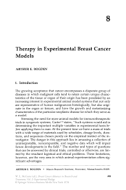 therapy in experimental breast cancer models springer inside