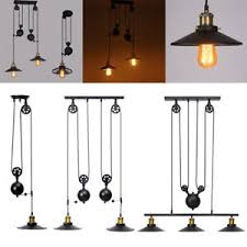 pulley lighting. Image Is Loading Retro-Vintage-Industrial-Hanging-Ceiling-Light -Pendant-Retractable- Pulley Lighting E