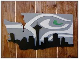 Small Picture Seattle Seahawks Space Needle Skyline Wood Wall Art FREE