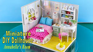 diy miniature dollhouse kit with working lights annabelle s room you
