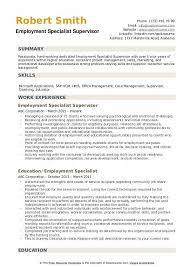 Sample Employment Resume Employment Specialist Resume Samples Qwikresume