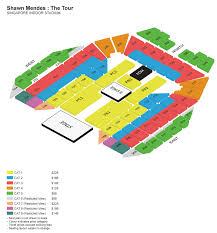 Shawn Mendes Seating Chart Shawn Mendes The Tour Singapore Sports Hub
