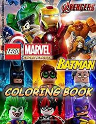 lego marvel avengers batman coloring book for kids for boys s