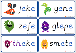 Free interactive exercises to practice online or download as pdf to print. A Set Of 6 Phonics Cards Showing E E Split Digraph Alien Nonsense Words Phonics Cards Nonsense Words Digraphs Activities