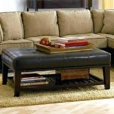cool large fabric ottoman black leather coffee table living pertaining to plan 8