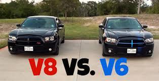 Dodge Charger R/T vs. Dodge Charger SXT (V8 vs. V6) Racing - YouTube