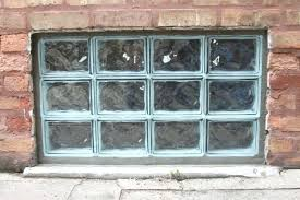 block glass windows unfinished brick wall decorated with glass block basement window in windows decor 0