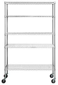 5 tier nsf 48 x18 x72 outdoor wire shelving rack with wheels