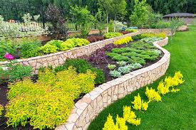 landscaping stone borders around flower