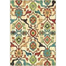 mexican style area rugs multi fl bright colors 7 ft x ft indoor area rug