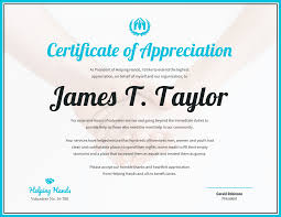 Sample Of Appreciation Certificates Certificate Of Appreciation Template Word 2010 Download Free