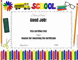 School Award Certificates Sample Certificate Of Recognition For