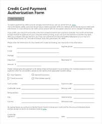 Credit Card Billing Authorization Form Template And Slip Download By ...