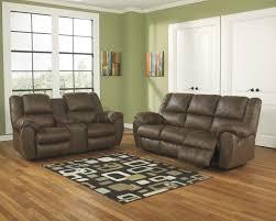 Leather Reclining Living Room Sets Buy Ashley Furniture Quarterback Canyon Reclining Living Room Set
