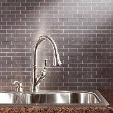 aspect l and stick metal backsplash tiles
