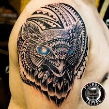 Tribal Owl Tattoo Beautifully Pitbull Tattoo Phuket Facebook