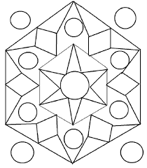 Small Picture Rangoli design coloring printable Page for kids 1 Creative