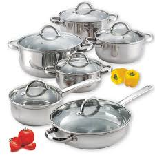 kitchen items store: cook n home  piece stainless steel set