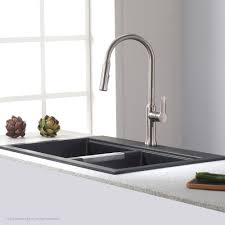 Kraus Kgd 433b Quarza Black Onyx Kitchen Sinks Sinks Efaucetscom