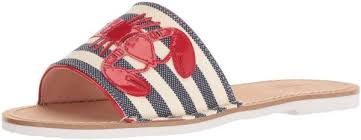 Kate Spade Shoe Size Chart Kate Spade New York Womens Ivonna Sandal Navy Cream Striped Canvas 8 5 Medium Us