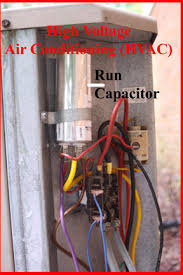 hvac how to replace the run capacitor in the compressor unit using your voltmeter set to a scale that will 240vac place your probes on the 2 largest wires at the bottom of the relay and confirm there is no