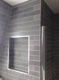 cmd ceramics tiling ideas natural slate tiles laid in a brick bond brick effect wall mdf boards brick effect wall tiles