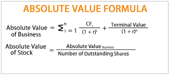 Absolute Valuation Formula Example How To Calculate