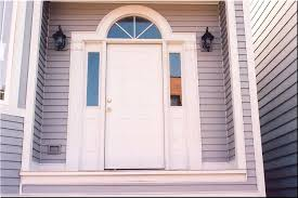 white front door. Modern Concept White Front Door With Wooden After Complete New Steps And